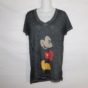 Disney Burnout Vintage Look Mickey T Shirt Medium